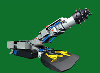 采煤掘进机3D模型