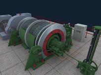 采煤提升机3D模型