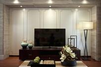 典雅中式电视背景墙