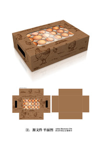 鸡蛋牛皮纸包装设计 AI