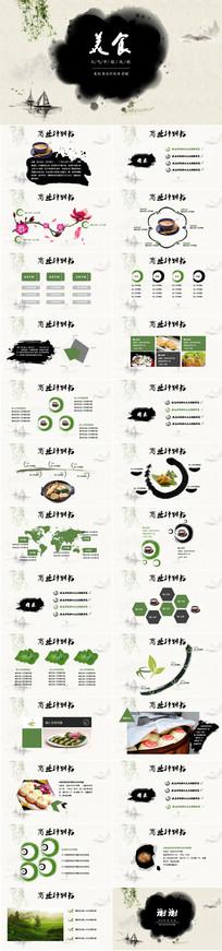 美食广场餐饮投资PPT模板