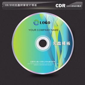 时尚流动线条背景光盘设计图 CDR