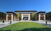 校园图书综合楼透视图 JPG