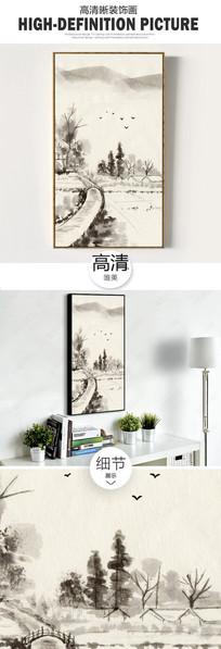 新中式手绘卡通儿童房装饰画