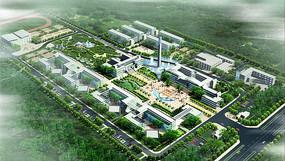 学校景观设计方案鸟瞰图 JPG