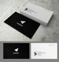 纸飞机高端立体商务名片