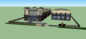 办公工厂建筑模型