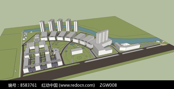 厂区规划方案模型 图片