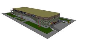 厂区运输仓库模型