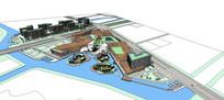 创意园区建筑模型