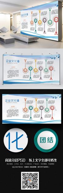 简洁企业文化墙公司发展历程