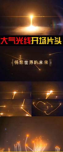 科技企业光线文字展示ae模板