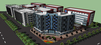 某厂区高层建筑模型