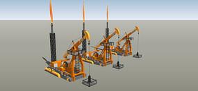 石油采油厂模型