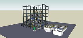油气化工厂模型