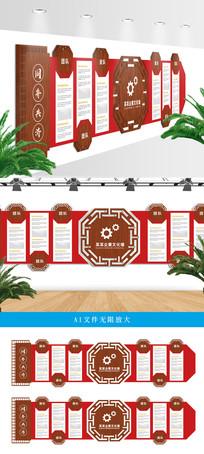中国古典企业文化墙