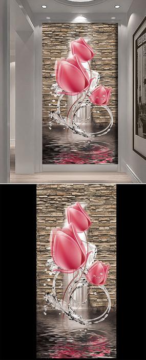 3D玄关背景墙