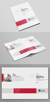 大气红色企业文化宣传画册封面