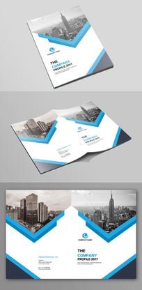 大气蓝色企业文化宣传画册封面