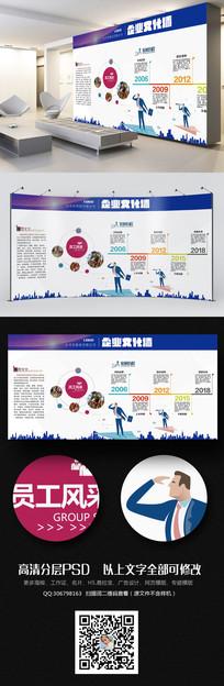 大气时尚公司形象墙企业文化墙