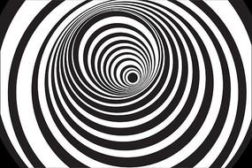 黑白螺旋艺术视觉动态背景视频