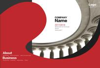 红色古典欧式商务画册封面