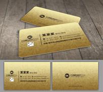 金色欧式花纹二维码名片