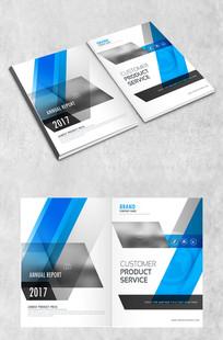 蓝白矩形企业封面