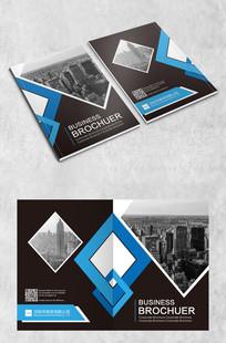 蓝色几何画册封面