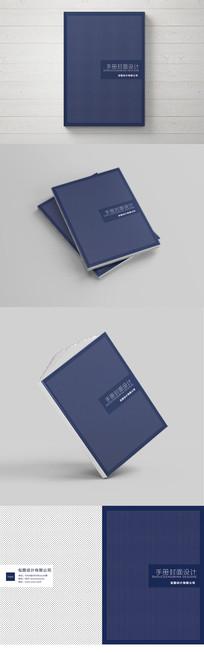 清新圆点蓝色书籍封面设计模板