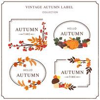 秋季食品包装标签