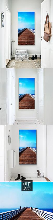 大海风景道路玄关装饰画 JPG
