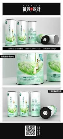 典雅荷叶茶花茶铁罐包装设计