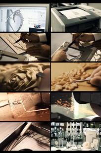 高端金属相框礼品设计生产视频