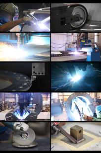 工厂电焊切割和打磨视频 mp4