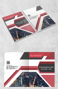 红黑几何商务封面