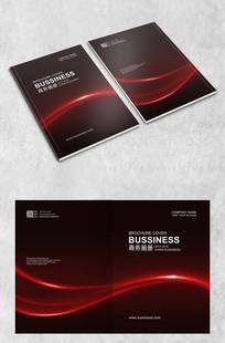 红色奢华商务封面