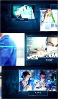 生化医疗研究科技宣传AE模板