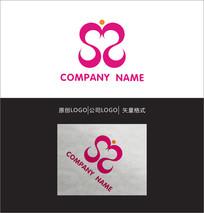 心形S字母LOGO设计 CDR