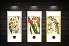 新中式花卉装饰画