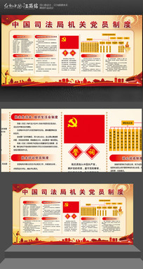 中国司法局机关党员制度展板