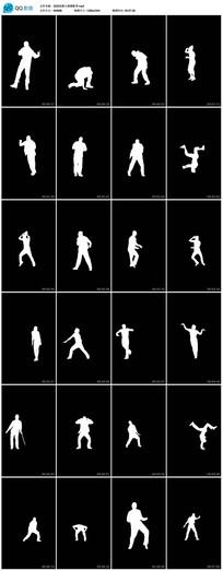 32段街舞人物剪影视频素材