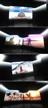 LED大屏光线闪烁相册模板