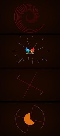 扁平化线条动画标志展示模板