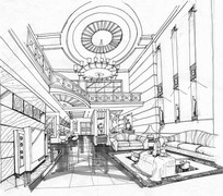 客厅环境v客厅手绘透视图jpg联排别墅新别墅桂园碧图片
