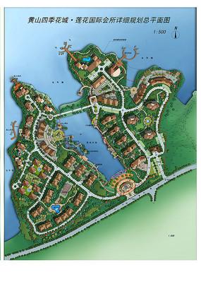 滨水住宅区景观规划彩平