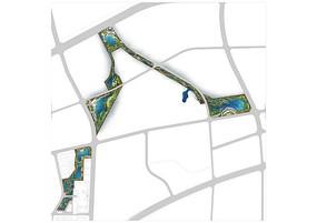 带状湿地公园psd分层彩平