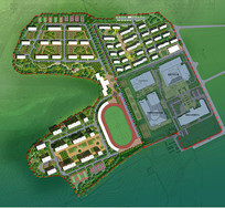 高档住宅景观规划彩平
