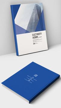 简约蓝色现代企业画册封面