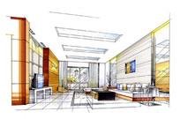 客厅设计效果表现图 JPG